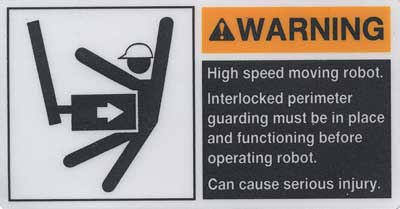 machine warning poster