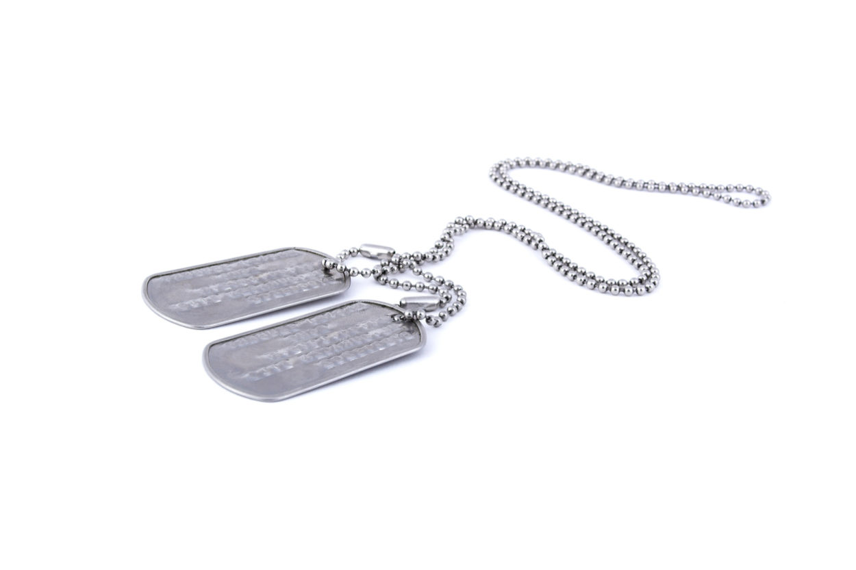 metal dog tags